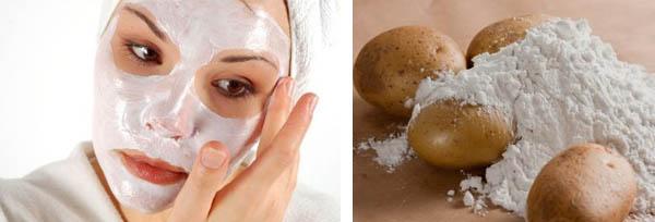 самая эффективная маска для лица с крахмалом