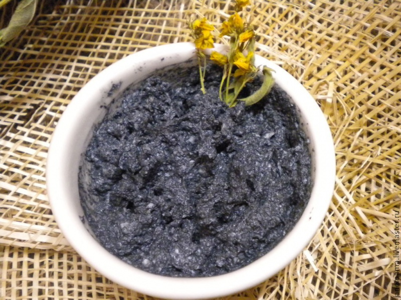 Натуральные маски для лица желатин уголь